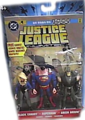 JLA Justice League Unlimited Black Canarysuperman& Green Arrow