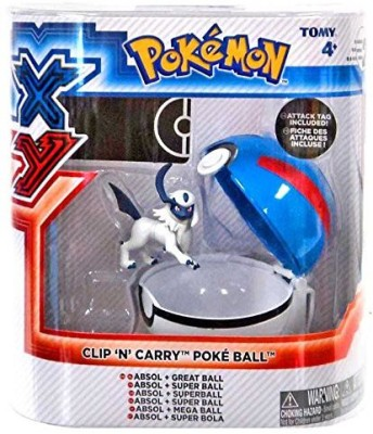 Pokemon X & Y Clip N Carry Pokeball Absol & Great Ball Set