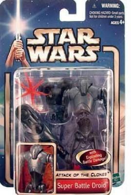 Star Wars Episode 2 Super Battle Droid With Backdrop