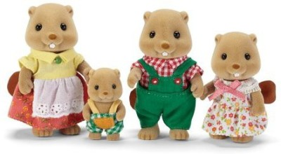 Calico Critters Woodbrook Beaver Family Playset