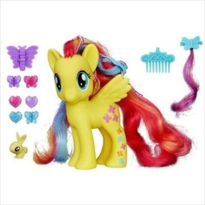 My Little Pony Styling Strands Fashion Fluttershy Figure, 6-Inch
