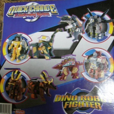 Polyfect Dino Robot Fighter Quick Change Transforming System