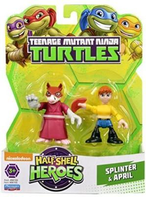 Teenage Mutant Ninja Turtles Pre-Cool Half Shell Heroes Splinter and April Figures