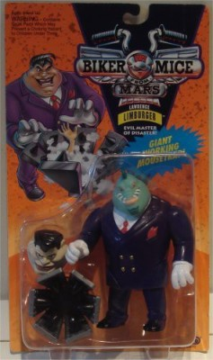 Galoob Biker Mice From Mars Lawrence Limburger With Giant Working