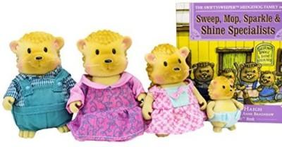 Woodzeez Li,L Swiftysweepers Hedgehog Family Playset