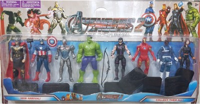 AS Avengers Action Figures of 8 Super Heroes