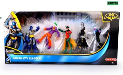 Krypton Gotham City All-Stars [Batman, Joker, Robin, Batman (black) & Two-Face] by Mattel