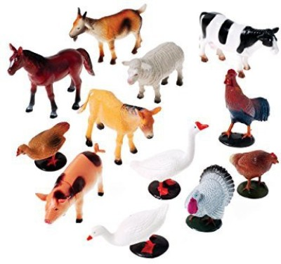 US Toy Company 2386 Farm Animals12 Piece