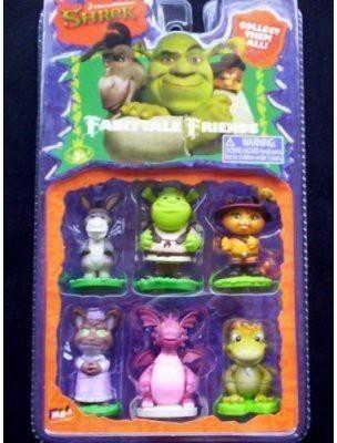 Shrek Fairytale Friends Donkey ,Puss N Boots,Wolf ,Dragonfrog King