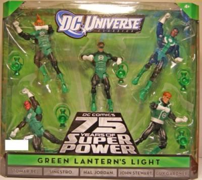 DC COMICS Universe Classics Exclusive Green Lanterns Light Action Figure 5Pack Tomar Re, Sinestro, Hal Jordan, John Stewart Guy Gardner