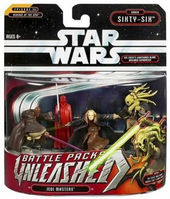 Hasbro Star Wars Unleashed Battle 4 Pack Master Jedi