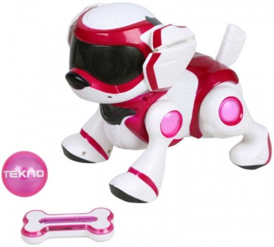 Tekno Robotic Puppy with Bone and Ball Pink