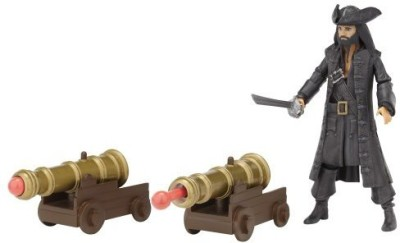 Pirates of the Caribbean Battle Pack Wave #1 Blackbeard With Dual Blasting Cannons