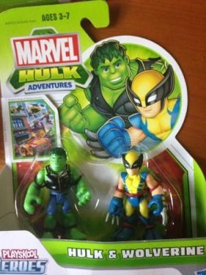 Super Hero Adventures Marvel Playskool Mini 2Pack Hulk & Wolverine