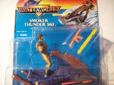 Kenner Waterworld Smoker Thunder Ski With Berserker Rider