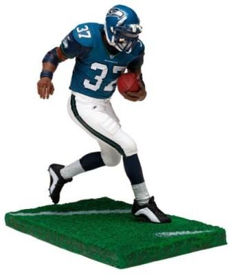 NFL McFarlane ToysSports Picks Series 6 Action Figure Shaun Alexander (Seattle Seahawks) Blue Jersey White Pants