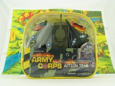 McToy Deluxe 100 Piece Military Army Play Set