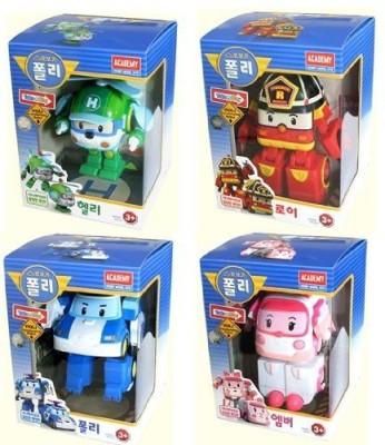 Robocar Poli POLI Poli + Helly + Amber + Roy Transforming Robot Toy