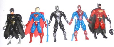Hariom Enterprises Mini Super Heroes(Multicolor)