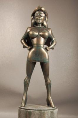 Bowen Designs Retro Girl Statue