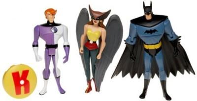 Mattel Justice League Unlimited Batmanhawkgirl& Elongated Man Set