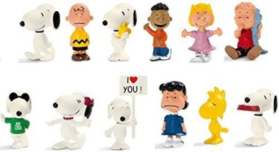 Schleich Peanuts Set 12 Styles Includes Snoopyjoe Coolcharlie