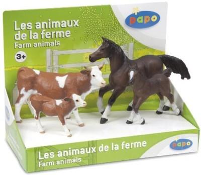 Papo Farm Animals Box Set 2 Cowcalfhorsefoal