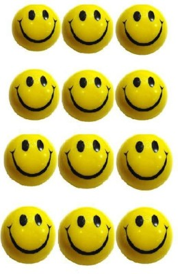 VRV Yellow Smiley Face Squeeze Ball - Set Of 12