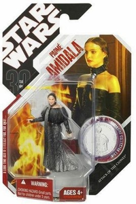 Hasbro Star Wars 3.75 Basic Figure Padme with Black Leather Outfit