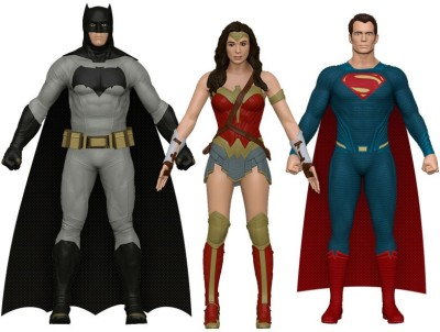 NJ Croce Batman vs. Superman 3-pc Set: Batman, Superman, Wonder Woman(Multicolor)