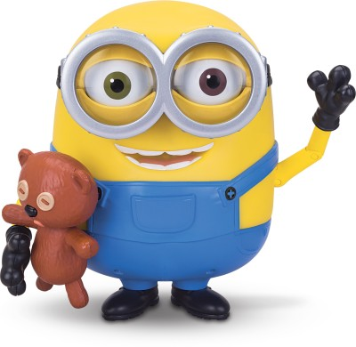 Thinkway Toys Minion Bob Interacts With Teddy Bear