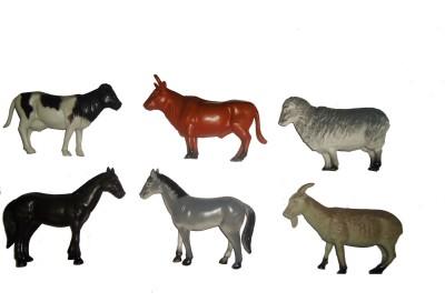 Gift-Tech 6 Piece Big Size Attractive Farm Animal Figures