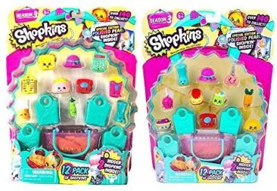Shopkins Season 3 Bundle - Two 12 Packs (2 Different Sets of Visible Shopkins)