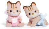 Calico Critters Caramel Cat Twins (Multi...