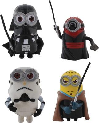 Tootpado Cartoon Space Wars Super Hero Action Figure Toys (1c333) - Pack of 4