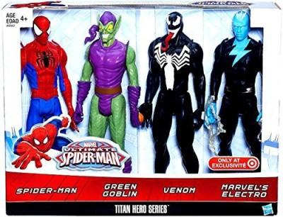 Marvel Ultimate Spiderman Titan Hero Series Spiderman Vs Villains