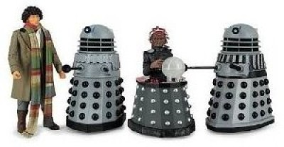 Character Options Doctor Who Destiny of the Daleks Fourth Doctor - Davros - 2 Daleks Action Figure 4-pack