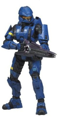 Halo 3 Mcfarlaneseries 3 Exclusive Blue Spartan Soldier Scout