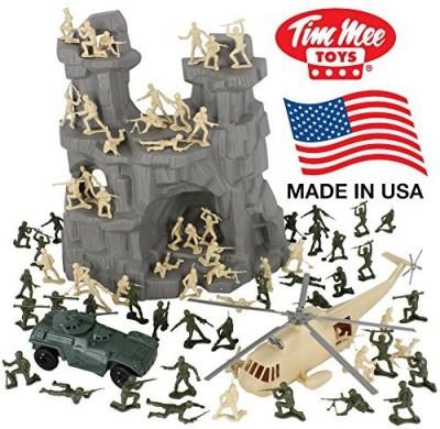 Tim Mee Timmee Battle Mountain Plastic Army Men Playset Tan