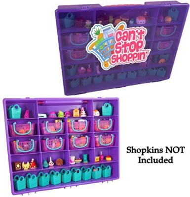 Cornucopia Brands Shopkins Compatible Carrying Case Organizer-Cant Stop Shoppin, Purple Carrying Case for Shopkins Compatibility