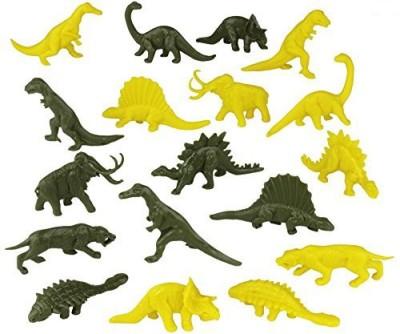 Tim Mee Timmee Plastic Dinosaurgreen & Yellow 48Pc Dino Set