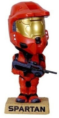 Halo Funko 3 Rocket 2008 Sdcc Exclusive Red Spartan Bobblehead