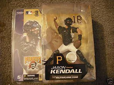 Unknown Jason Kendall 18 Pittsburgh Pirates Catcher White Uniform