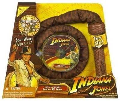Indiana Jones Hasbro Sound FX Whip & DVD