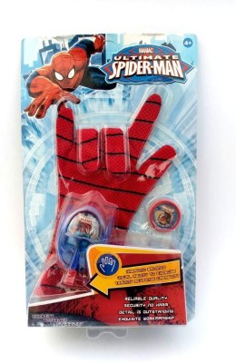 asa products spider man gloves disc launcher