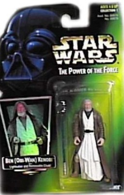 Kenner Star Wars Power Of The Force Ben Kenobi Green Card