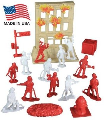 Tim Mee Fire Rescue Team Playset 33 Piece Bucket With 25 Inch