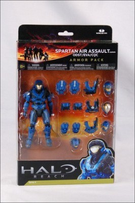 Halo Reach Series 4 Spartan Air Assault & 3 Sets Of Armor Team