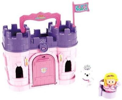 Little People Exclusive Fisherprice Play ,N Go Castle Pink Princess