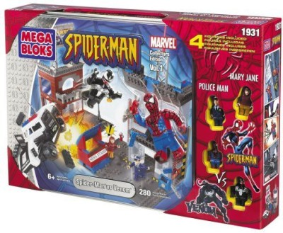 Mega Bloks Spiderman Vs Venom Collectors Tin